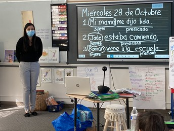 Spanish Class in 1st Grade!