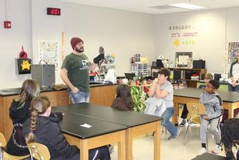 speaker talking to students