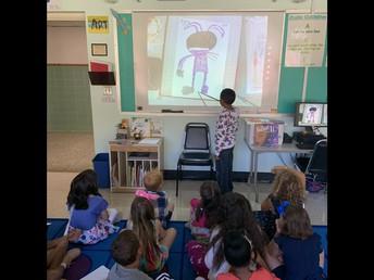 2nd grade sharing their Art work!