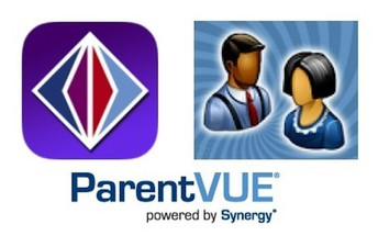 ParentVue logo, powered by Synergy