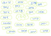 Number work by Alfie - Y3