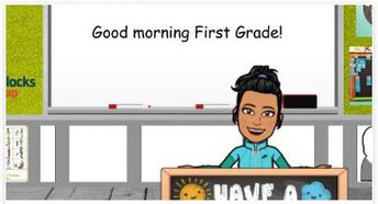 1st Grade Bitmoji Classroom