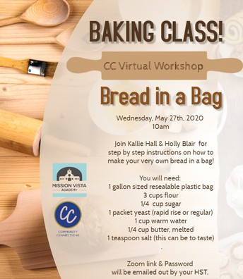VIRTUAL Community Connections Baking Bread in a Bag Workshop!