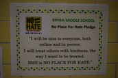 No Place For Hate School Pledge