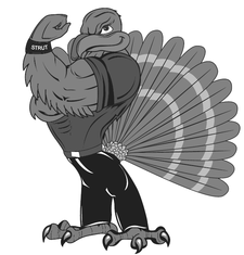 A picture of the gobbler mascot