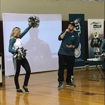 ~ Philadelphia Eagles - Fuel Up to Play 60 Pep Rally for 6th Grade on November 20th ~