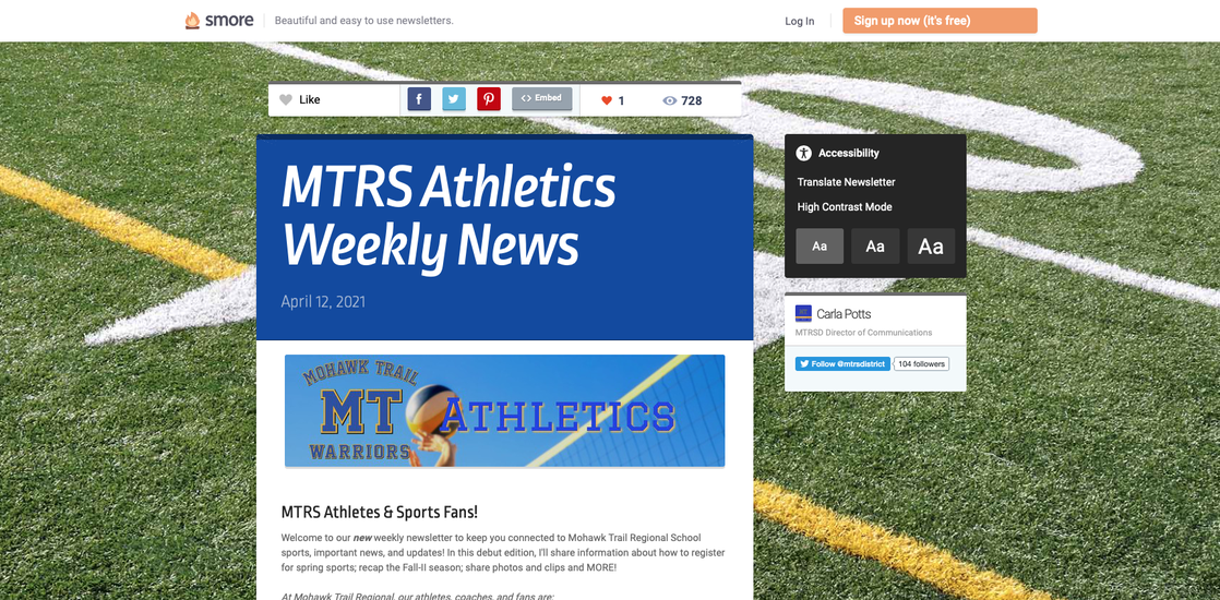 MTRS ATHLETICS WEEKLY NEWSLETTER