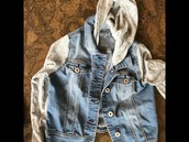Cat & jack Jean jacket size 10/12