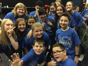 LMS students participating in the Circle the State with Song