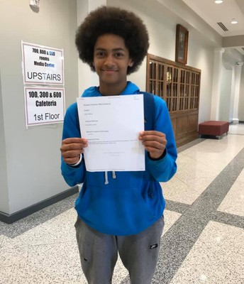 Dylan received a positive office referral for always and willingly helping other students when he finishes his work. #lmmsrocks
