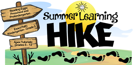 BCPS Summer Learning Hike graphic