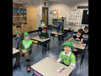 St. Patrick's Day shenanigans in 1/2F!