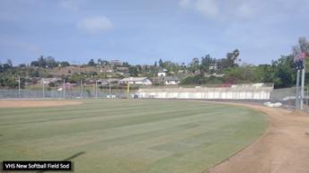 VHS New Softball Field Sod
