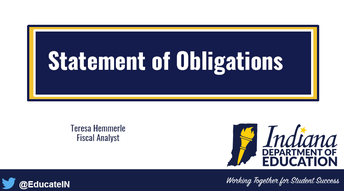 statement of obligations