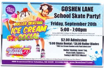 Goshen Lane School Skate Party