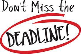 Deadlines at a Glance