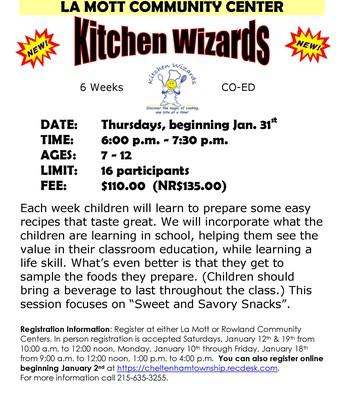 Kitchen Wizards @ La Mott Community Center