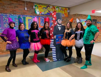 Lincoln Staff Had Fun Too!