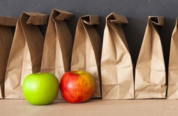 breakfast/lunch distribution