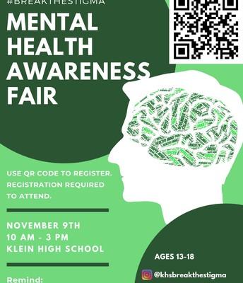 Klein HS 2nd Annual Mental Health Awareness Fair