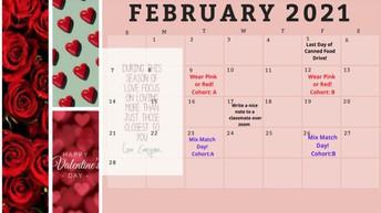 ASB February Calendar
