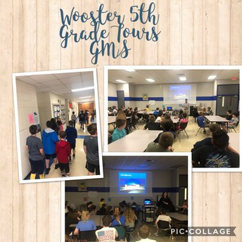 5th Grade Tours the Middle School