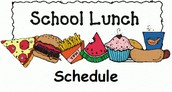LUNCH SCHEDULE FOR MAY 25