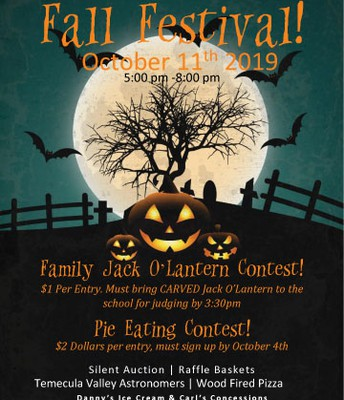 Fall Festival Fun Friday, October 11 5-8 pm