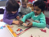 K4 students work collaboratively