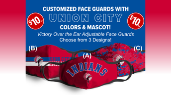 For Sale: Face Masks in Union City's Colors and Mascot!