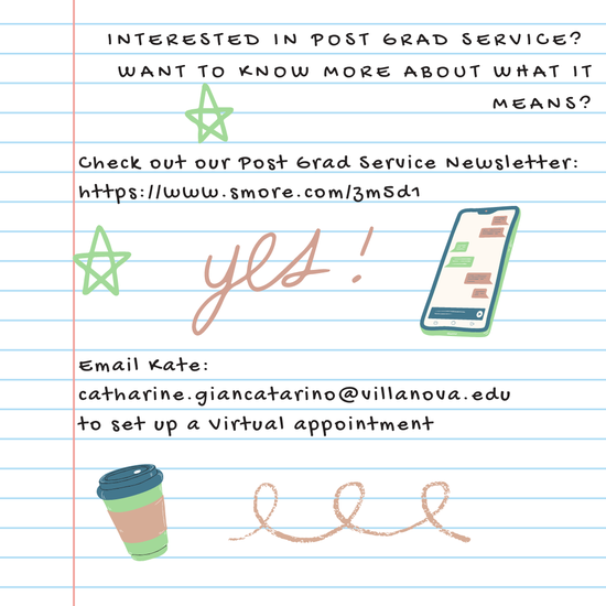 Interested in Post-Grad service?