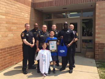 Glacier Ridge Fifth Grader Wins CL Police Department National Night Out Design Contest