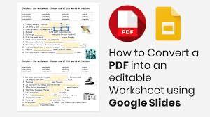 How to Make a Worksheet Editable on Google Slides