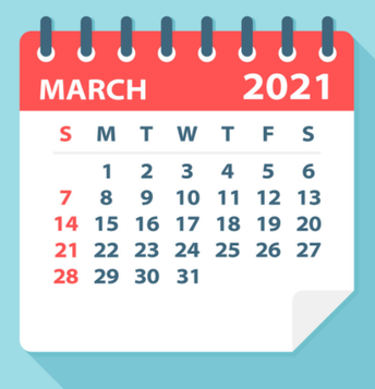 Upcoming Important Dates...
