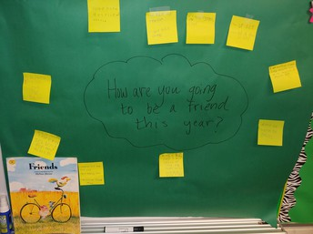 Chalk Talk Thinking Routine in 3rd grade class