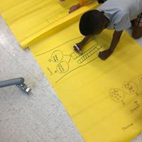 Markers + Big Yellow Paper + Math = FUN in Ms. Straley's class!