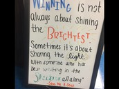 Quotable words from a great book! Some positivity to start the day in 5th grade!