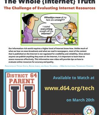 D64 Parent University Flyer