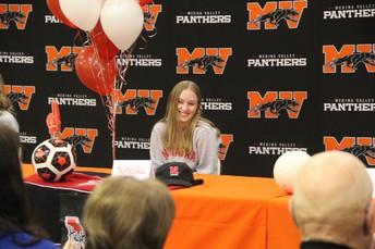 Audra Clark Signed at the University of Nebraska - Soccer