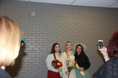 Senior Actresses (Molly Wilson, Christina Gonzales, Cheyenne Smith) posing for a picture
