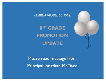 8th Grade Promotion Update