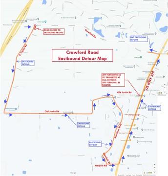 Crawford Road Construction Detour