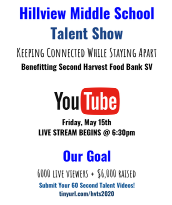 The Show Must Go On...A Virtual Talent Show benefitting Second Harvest Food Bank SV