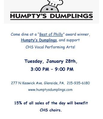 VPA Humpty's Dumplings Fundraiser