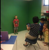 & created a green screen in our Maker Space.