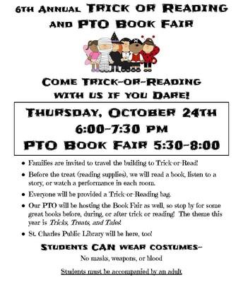 6th Annual Trick or Reading & PTO Book Fair