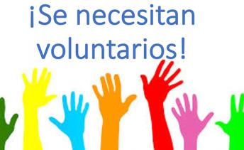¡Se necesitan voluntarios!