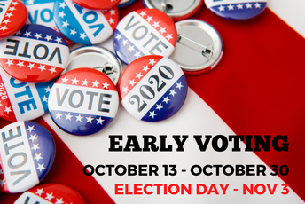 Early Voting Held Through Oct. 30
