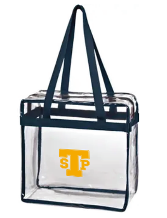 Don't forget to purchase your clear stadium bag!