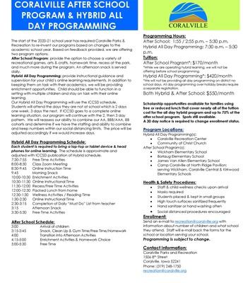 Coralville After School/Hybrid Programming